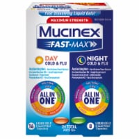Mucinex Fast-Max Max Strength Day Severe Cold & Night Cold & Flu Liquid Gels Medicine