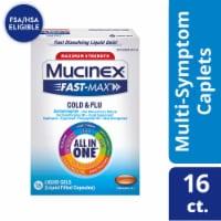 Maximum Strength Mucinex Fast-Max Cold & Flu All-In-One Multi-Symptom Relief Liquid Gels - 16 ct