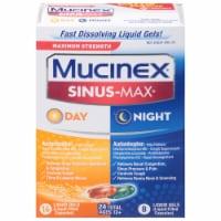 Mucinex Sinus-Max Max Strength Day & Night Sinus Pressure and Congestion Liquid Gels