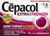 Cepacol Extra Strength Sore Throat & Cough Reliever Mixed Berry Flavored Lozenges
