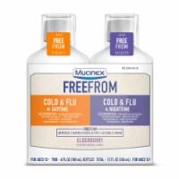 Mucinex Free From Elderberry Flavor Daytime & Nighttime Cold & Flu Medicine