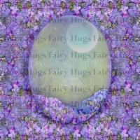 Fairy Hugs - Backgrounds - 6\  x 6\  - Purple Fairy - 1