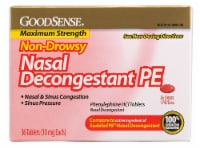Good Sense Non-Drowsy Nasal Decongestant PE Tablets 10mg