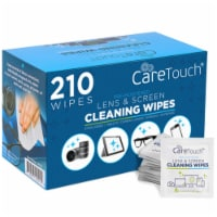 Care Touch CTLW210 Lens Screen Pre Moistened Cleaning Wipes - Box of 210 - 1
