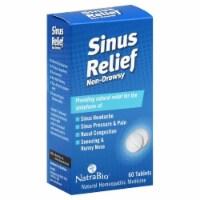 NatraBio Non Drowsy Sinus Relief Tablets