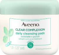Aveeno Clear Complexion Daily Cleansing Self-Foaming Pads - 28 ct