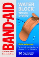 Band-Aid Waterproof Tough Strips 1 in x 3 1/4 in Bandages