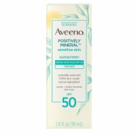Aveeno Positively Mineral Sensitive Skin Face Sunscreen Lotion SPF 50