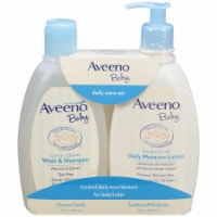 Aveeno Baby Wash & Shampoo and Lotion Daily Care Set 2 Count