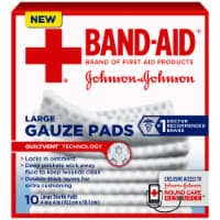 Band-Aid Large Gauze Pads 10 Count