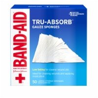 Band-Aid Tru-Absorb Large Gauze Sponges 50 Count