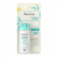 Aveeno Positively Mineral Sensitive Skin Face Milk SPF 40 Sunscreen