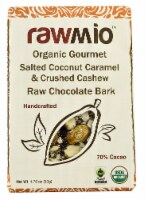 Windy City Organics Rawmio Salted Coconut Caramel & Crushed Cashew Raw Chocolate Bark