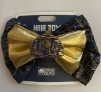 Disney Parks Star Wars Galaxy Edge Droid Depot Gold Hair Bow New With Card - 1