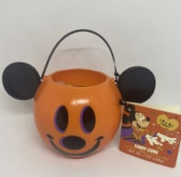 Disney Parks Happy Halloween 2021 Mickey Pumpkin Candy Corn Bowl New With Tag - 1