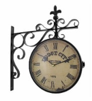 Double Sided Dodge City Station Hanging Wall Clock - Small