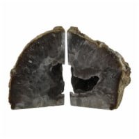 Large Natural Banded Brazilian Agate Drusy Geode Bookends 7-11 Pounds - One Size