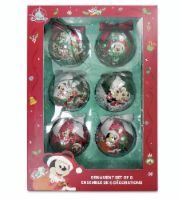 Disney 2020 Mickey Mouse And Friends Sketchbook Ball Ornament Set New With Box - 1