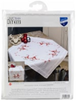 Vervaco Stamped Table Runner Cross Stitch Kit 16 X40 -Christmas Gnomes - 1
