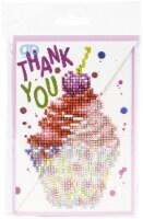 Diamond Dotz Diamond Art Greeting Card Kit 5 X7 -Cupcake Thank You - 1