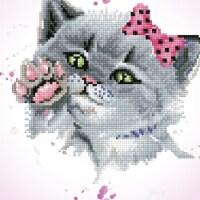 Needleart World DD5059 12.6 x 12.6 in. Dotz Diamond Embroidery Facet Art Kit, Eye Spy Kitty - 1
