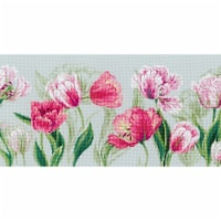 Riolis R100-052 27.5 x 11.75 in. Spring Tulips Counted Cross Stitch Kit - 14 Count - 14
