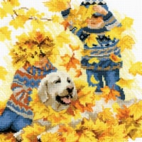 Riolis R1694 11.75 x 11.7 in. Autumn Holidays Counted Cross Stitch - 1