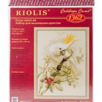 Riolis R1362 11.75 x 15.75 in. White Cockatoo Counted Cross Stitch Kit - 14 Count - 14