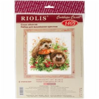 RIOLIS Counted Cross Stitch Kit 9.75 X9.75 -Hedgehogs In Lingonberries (14 Count) - 14 Count