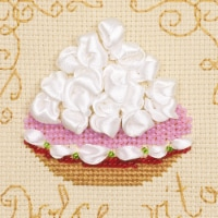 Riolis R1256 4 x 4 in. Cake Basket Counted Cross Stitch Kit - 14 Count - 14