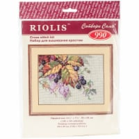 Riolis R990 10.25 x 7.75 in. Blackberries Counted Cross Stitch Kit - 15 Count