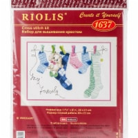 Riolis R1637 12 x 8.25 in. My Family Counted Cross Stitch Kit - 14 Count - 14