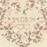 Riolis R1405 4.5 x 4.5 in. All Heart Counted Cross Stitch Kit - 25 Count - 25