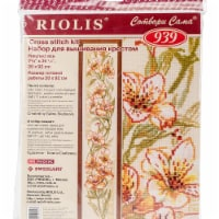 Riolis R939 8 x 36.25 in. Parrot Flower Counted Cross Stitch Kit - 15 Count - 15