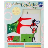 Vervaco V0164623 Dress Your Doll Making Couture Outfit Set, Dolly Ladybug - 1