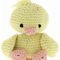 Hoooked Duckling Danny Yarn Kit W/Eco Barbante Yarn-Yellow & Peach - 1