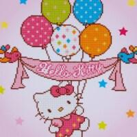 Vervaco V0175278 Diamond Art Kit - Hello Kitty with Balloons - 1