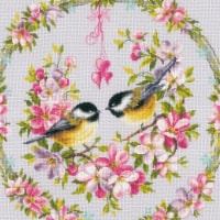 Vervaco V0169582 Tits & Flowers - Counted Cross Stitch - 1