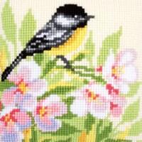 Vervaco V0157521 Tit & Blossom - Needlepoint Kit - 1