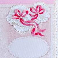 Riolis R0081PT 8.25 x 8.25 in. Stamped Cross Stitch Kit - Baby Girl Booties - 1