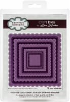 Creative Expressions Stitched Craft Dies By Lisa Horton-Scallop Layered Squares