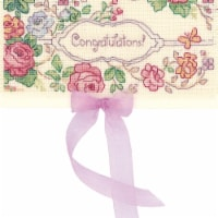 Riolis R1783AC 6.25 x 3.5 in. Counted Cross Stitch Kit, Card Congratulations - 18 Count - 1
