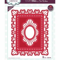 Creative Expressions CED3189 Festive Craft Dies by Sue Wilson, Ruffled Edge Christmas Frame