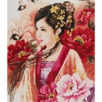 Vervaco L0184323 Asian Lady-Diamond Art Kit - 1