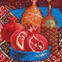 Riolis RAM0033 Pomegranates-Diamond Mosaic Kit - 1