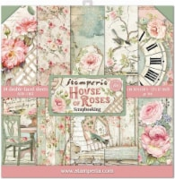 Stamperia Double-Sided Paper Pad 12 X12  10/Pkg-House Of Roses, 10 Designs/1 Each - 10/Pkg