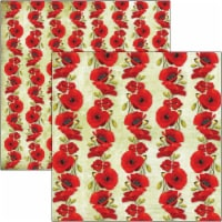 """Ciao Bella Double-Sided Cardstock 90lb 12""""X12""""-Poppies, Under The Tuscan Sun - 1"""