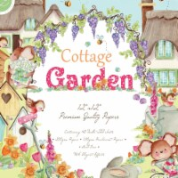 Craft Consortium PAD016 12 x 12 in. Double-Sided Paper Pad - Cottage Garden, Pack of 40 - 1