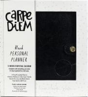Carpe Diem Personal Planner-Black - 1