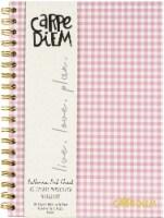 "Carpe Diem Hardcover Notebook 6.9""X9.8"" 80/Sheets-Ballerina Pink Check - 1"